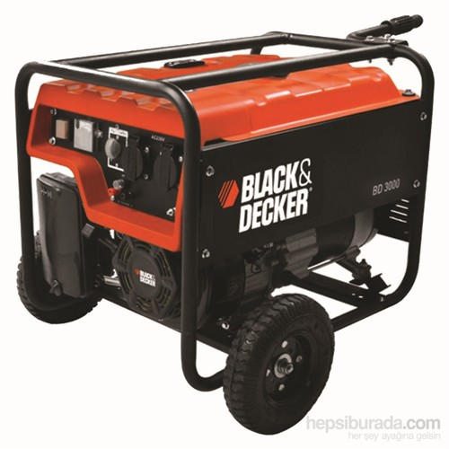 Black&Decker BD3000 Benzinli Jeneratör 2.7 kVA (4 zamanlı motor)