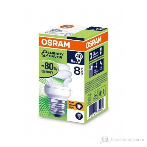 Osram Duluxstar Mini Twist 8W/827 E27 - Spiral Lamba- Sarı Işık