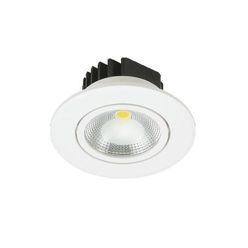 Lamptıme Armatür Lamptıme Led Downlıght Plastik Beyaz 5W 3000K Sarı Işık 240305 (70-87)