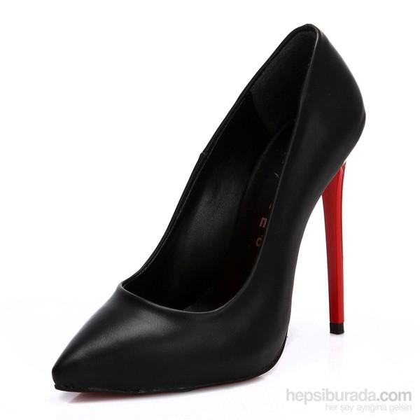Sothe Zy-1976 Siyah Kadın Stiletto Ayakkabı