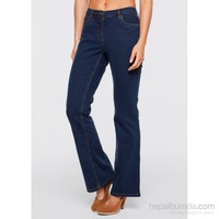 bonprix Jeanswear Streç Jean Bootcut Kısa Mavi