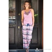 Shirly Desenli Askılı Pijama Takım