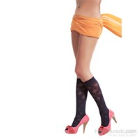 Pierre Cardin Desenli Dizaltı Çorap Sothis Kadın Siyah