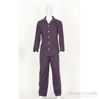 Thedon Bordo-Siyah Desenli Erkek Pijama Takımı
