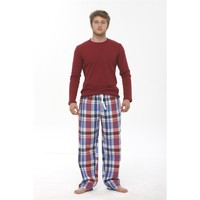 Thedon Ribana Bordo Erkek Pijama Takımı