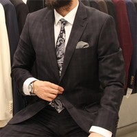 Victor Baron Ekoseli Regular Fit Takım Elbise