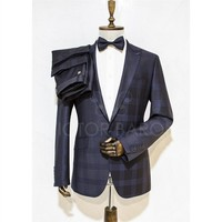 Victor Baron Yeni Sezon Ekoseli Consept Takım Elbise