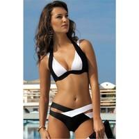 Angelsin Siyah Beyaz Özel Tasarım Bikini