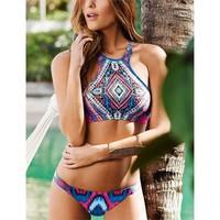 Angelsin Renkli Süper Tasarım Tankini Bikini