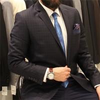 Victor Baron Ekoseli Consept Takım Elbise