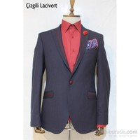 Victor Baron Yeni Sezon Çizgili Model Blazer Ceket