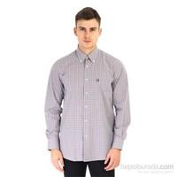 Kiğılı Uzun Kol Desenli Gömlek 5K4jcb521i9