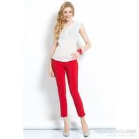 İroni Dar Paça Kırmızı Pantolon