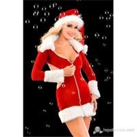 La Blinque Sırt Dekolteli Yılbaşı Kostümü Noel Anne