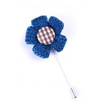 La Pescara Mavi Özel Tasarım Yaka Çiçeği Yc0081