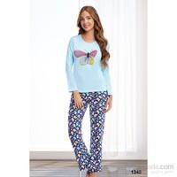 Miss Liska 1340 Uzun Kollu Pijama Takımı