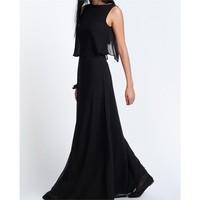 Melisita Eliza Büyük Beden Siyah Elbise