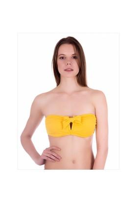 Ayyıldız 63547 Sarı Straplez Bikini Üstü