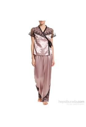 Missdore Saten 3 Lü Pijama Takım