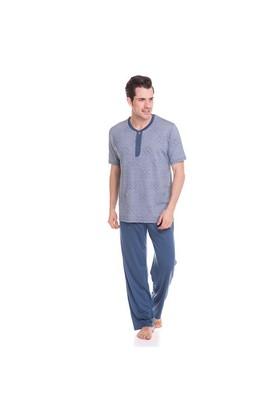 Çift Kaplan 8754 Erkek 3' Lü Pijama Takım