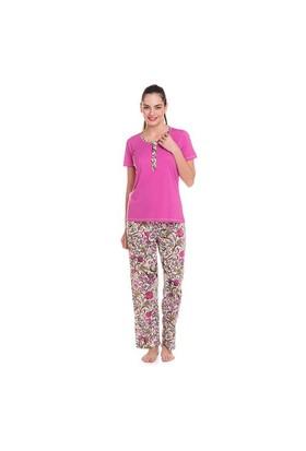 Çift Kaplan 7834 Bayan Pijama Takım