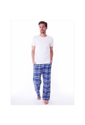 Ayyıldız 59486 Mavi Ekoseli Pijama Altı