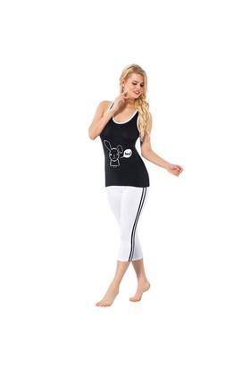 Pijama - Siyah Beyaz - Akbeniz