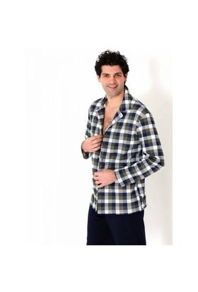 Ayyıldız 701W Ekose Desenli Erkek Pijama Takımı Lacivert