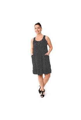 Tepa Siyah Puanlı Kolsuz Elbise 01000109-12