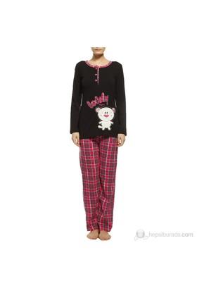 Missdore Pamuklu Pijama Takım