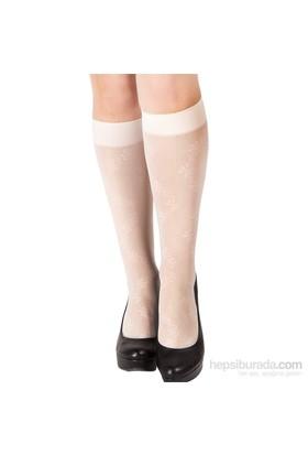 Pierre Cardin Desenli Dizaltı Çorap Demeter Vanilya