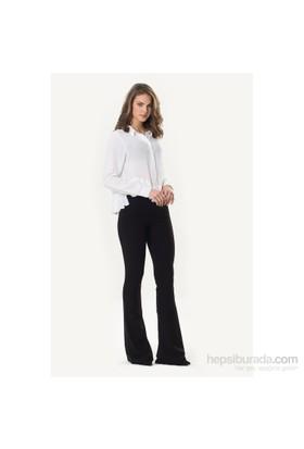 So Sugar Siyah Şardonlu Tayt Pantolon