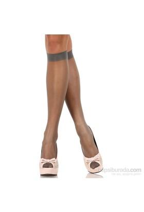 Pierre Cardin Yarı Parlak İnce Burunsuz Dizaltı Çorap İsis Gri