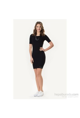 So Sugar Siyah 3/4 Kısa Kol Mini Elbise