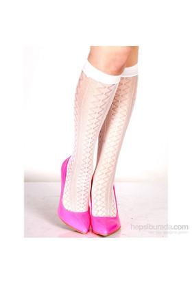 Pierre Cardin File Dizaltı Çorap Devyn Beyaz