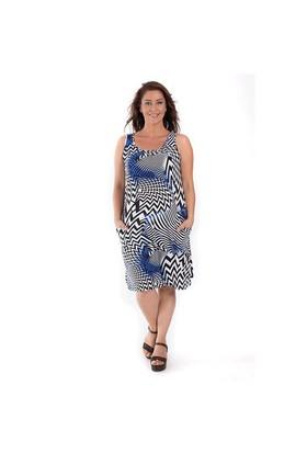 Tepa Büyük Beden Zigzag Elbise 01000116-97