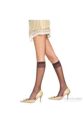 Miorre Likralı Parlak Dizaltı Çorap Siyah