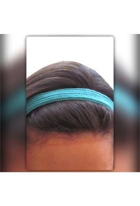 Pafuli El Örgüsü Saç Bandı Turkuaz