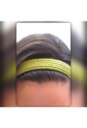 Pafuli El Örgüsü Saç Bandı Yeşil