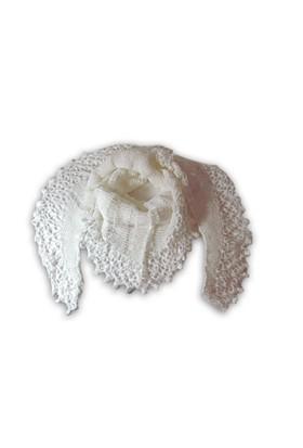 Pafuli Ponpon Uçlu Beyaz Ajurlu Şal