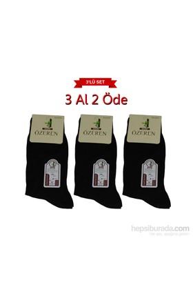 Boxerkek Özeren Parfümlü 3 Lü Bambu Çorap Ekonomik Set Siyah