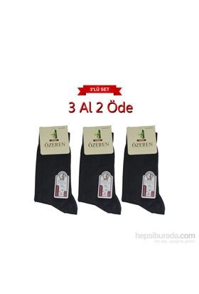 Boxerkek Özeren Parfümlü 3 Lü Bambu Çorap Ekonomik Set Füme