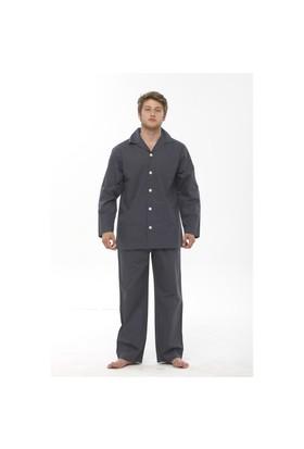 Thedon Gri Desenli Erkek Pijama Takımı