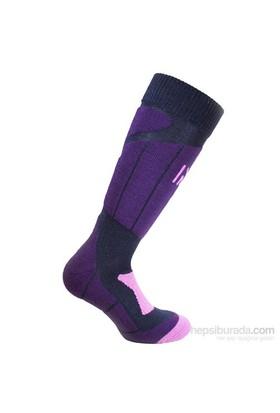Norfolk Kadın Kayak Çorabı Lacivert Mor