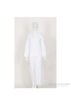 Thedon Beyaz Desenli Kadın Pijama Takımı