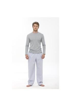 Thedon Ribana Gri Kırçıllı Erkek Pijama Takımı
