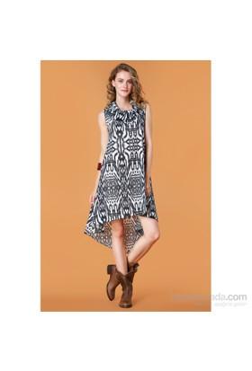 Demoda Geniş Yakalı Elbise Eb2349