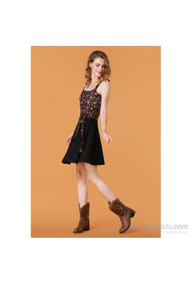 Demoda Omuzu Bağcıklı Elbise Eb2354