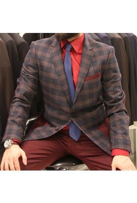 Victor Baron Ekoseli Kişlik Takım Elbise