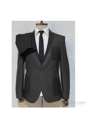 Victor Baron Yeni Sezon Torba Cep Model Takım Elbise Gri